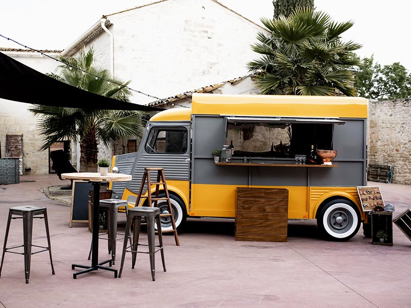 Roulotte Citroen Hy Vintage Metal Food Truck Mariage Montpellier