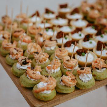 cocktail homemade food catering caterer traiteur mariage Domaine de Sarson