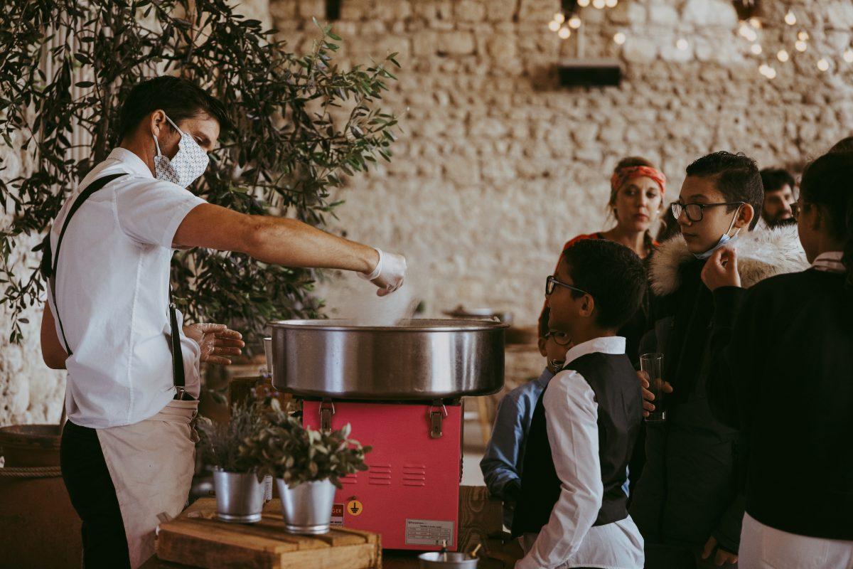 Barbe à papa foie gras stand culinaire traiteur catering mariage vin d'honneur cocktail domaine de sarson south of france