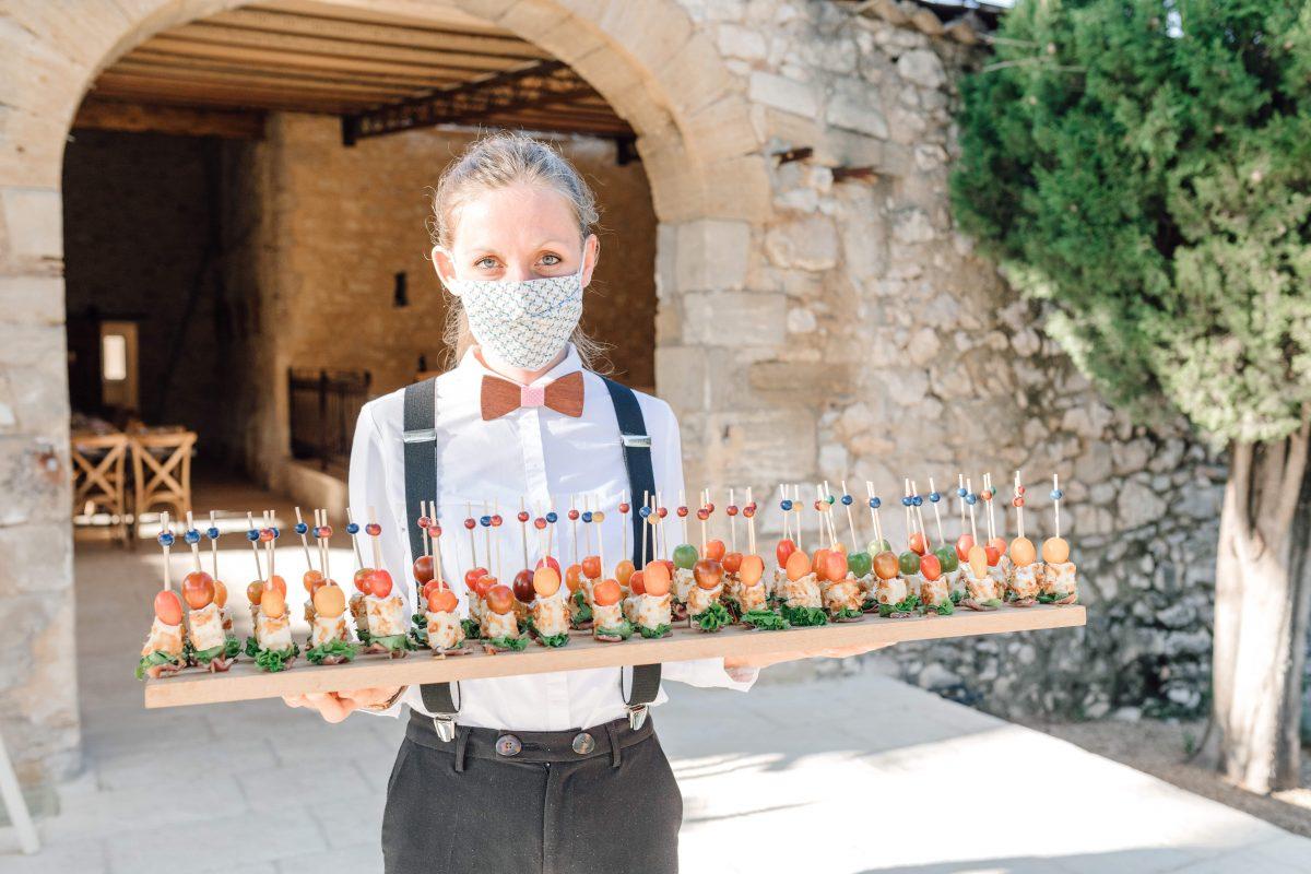 Cocktail Mariage Vin d'honneur Traiteur Repas à Table Service Grand Belle Sud de France