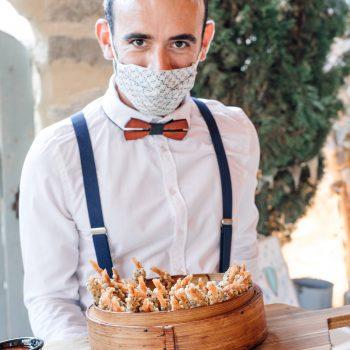 Mariage repas à table service Sud de France