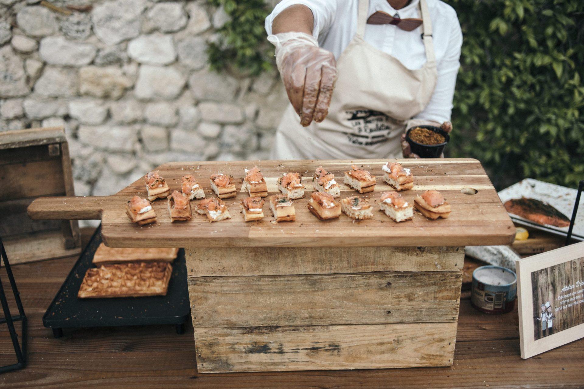 Animation culinaire showcooking Mariage traiteur Réception fait maison Sud de France